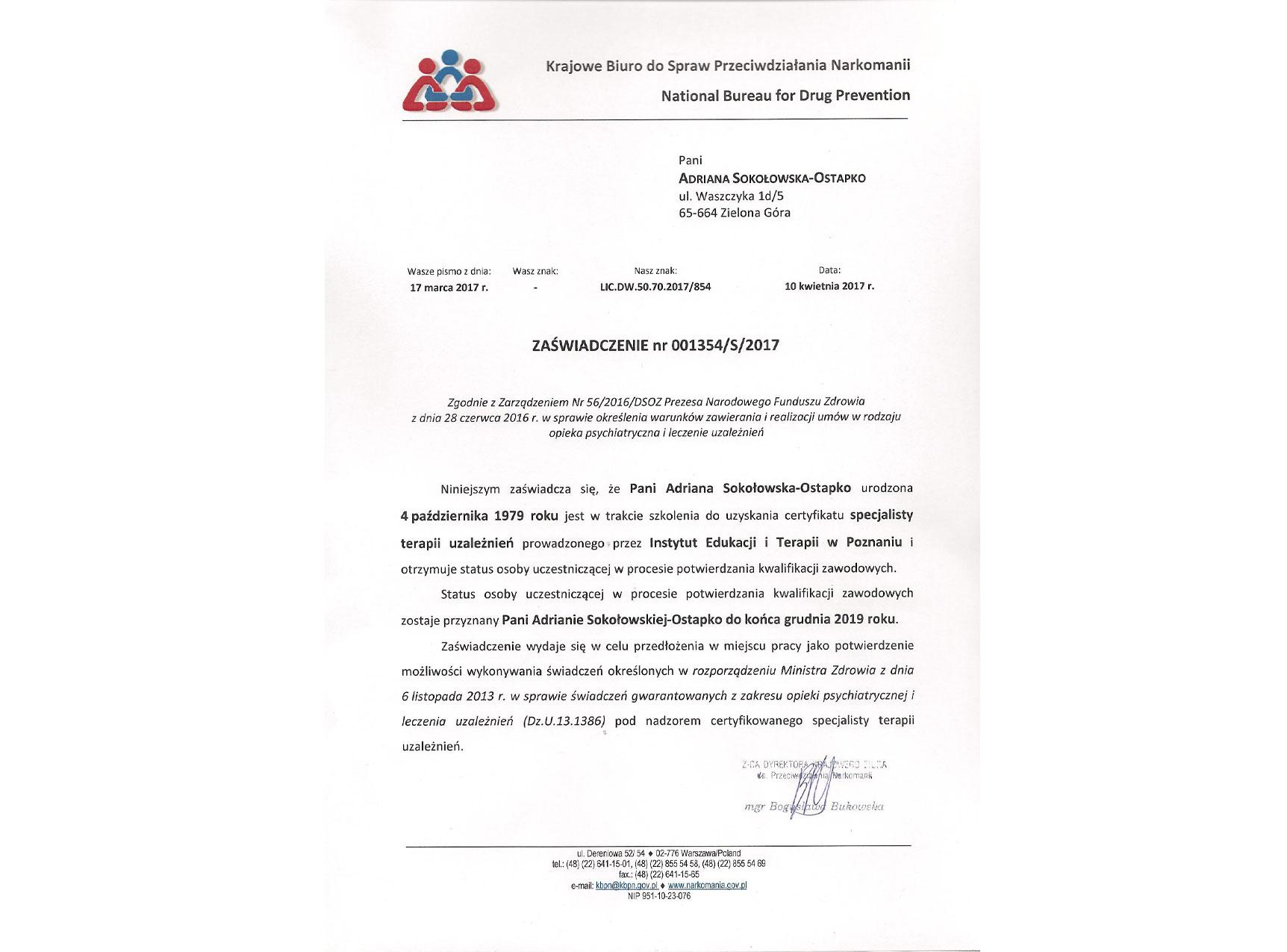 Certyfikat KBPN